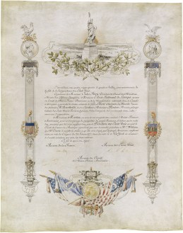 """""""As a souvenir of the unalterable friendship of the two nations."""" Deed of Gift for the Statue of Liberty, 1884. From the General Records of the Department of State. National Archives Identifier: 595444"""
