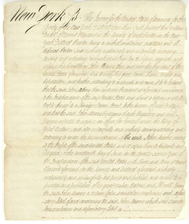 Indictment of William Durell, United States vs. William Durell