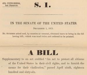 Sumner Civil Rights Bill
