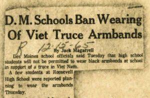 D.M. Schools Ban Wearing of Viet Truce Armbands