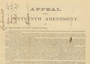 Appeal from the National Woman Suffrage Association