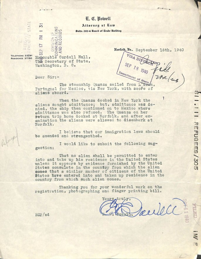 Letter from E. C. Powell