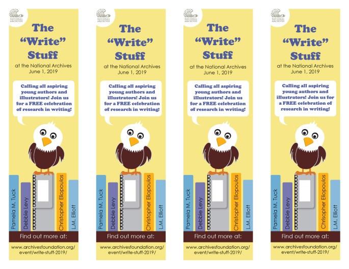 "The ""Write"" Stuff 2019 bookmarks"