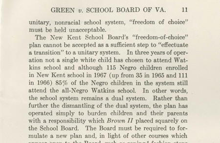Excerpt of Opinion in Green v. New Kent County