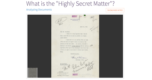 """What is the """"Highly Secret Matter""""?"""