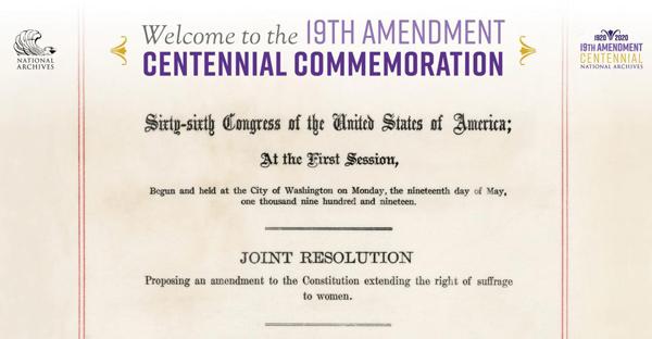 19th Amendment Centennial Commemoration