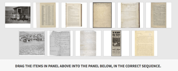 Small images of documents in the teaching activity