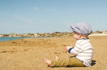 Child on the sand