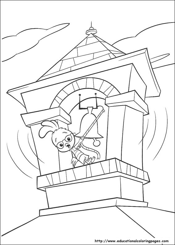 Chicken Little Coloring Pages Educational Fun Kids
