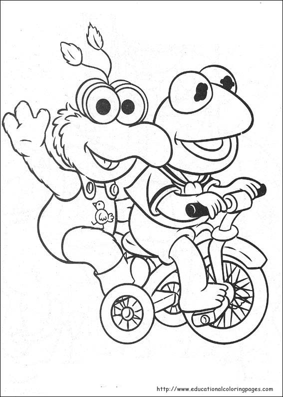 Muppets Babies Coloring Pages Educational Fun Kids
