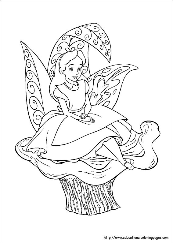 alice in wonderland coloring page # 4