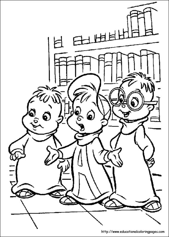 Chipmunks Coloring Pages Educational Fun Kids Coloring