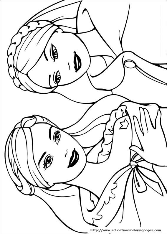 barbie coloring pages free # 22
