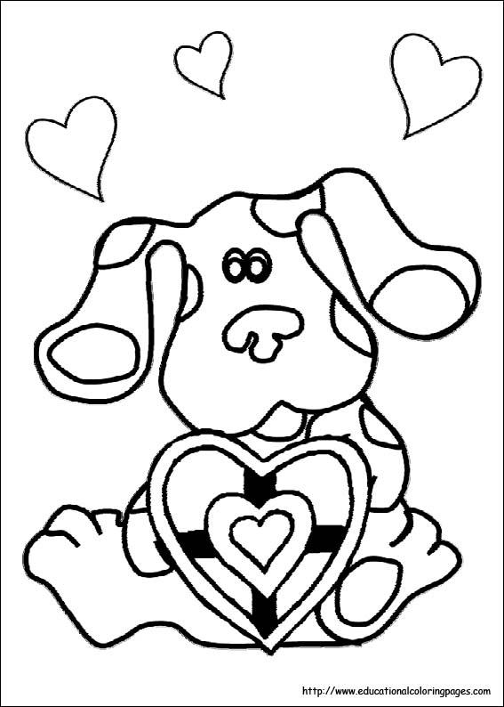 Blues Clues Coloring Sheets Educational Fun Kids