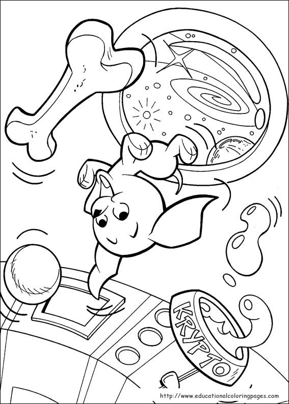 Krypto Coloring Pages Educational Fun Kids Coloring