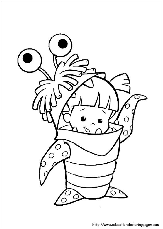 Monster Inc Coloring Educational Fun Kids Coloring Pages