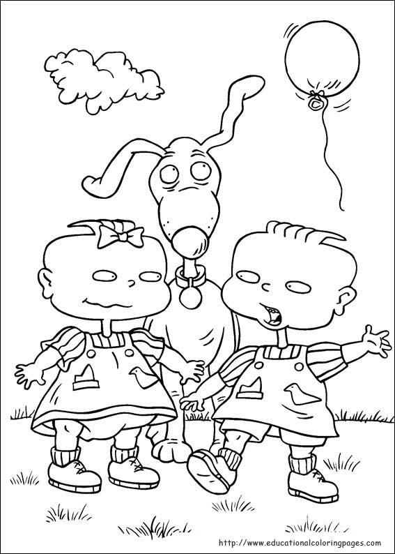 Rugrats Coloring Pages Educational Fun Kids Coloring