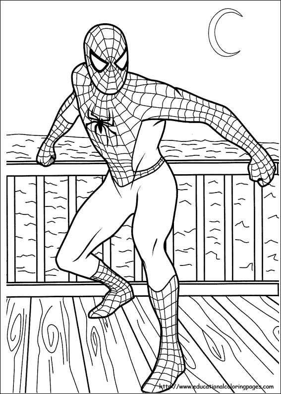 coloring pages of spiderman # 20