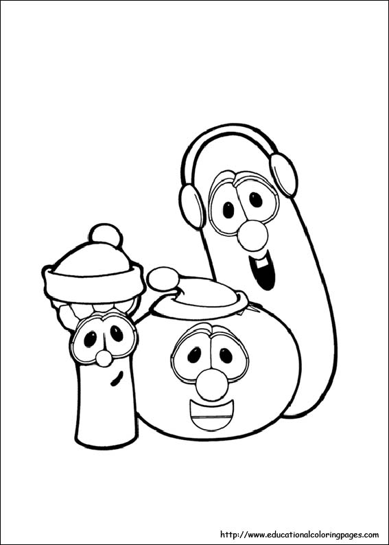 Veggie Tales Coloring Pages Free For Kids