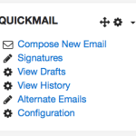 image of Moodle Quickmail block details
