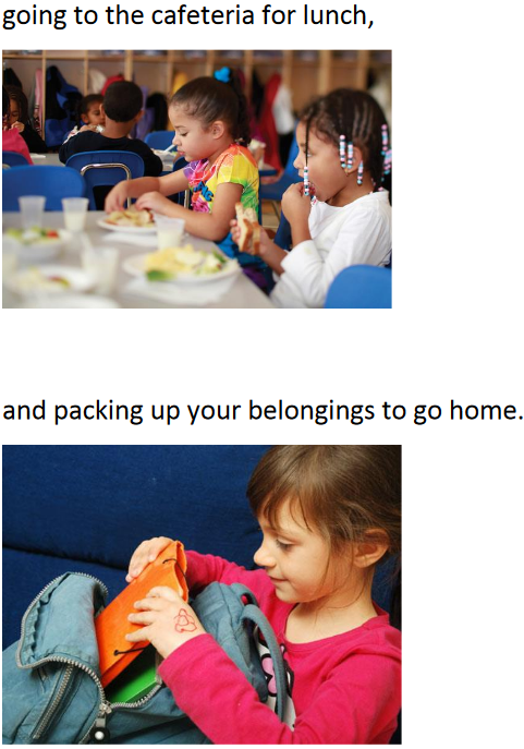 going to the cafeteria