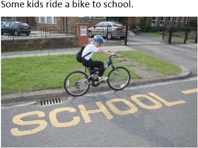 Some kids ride bike to school