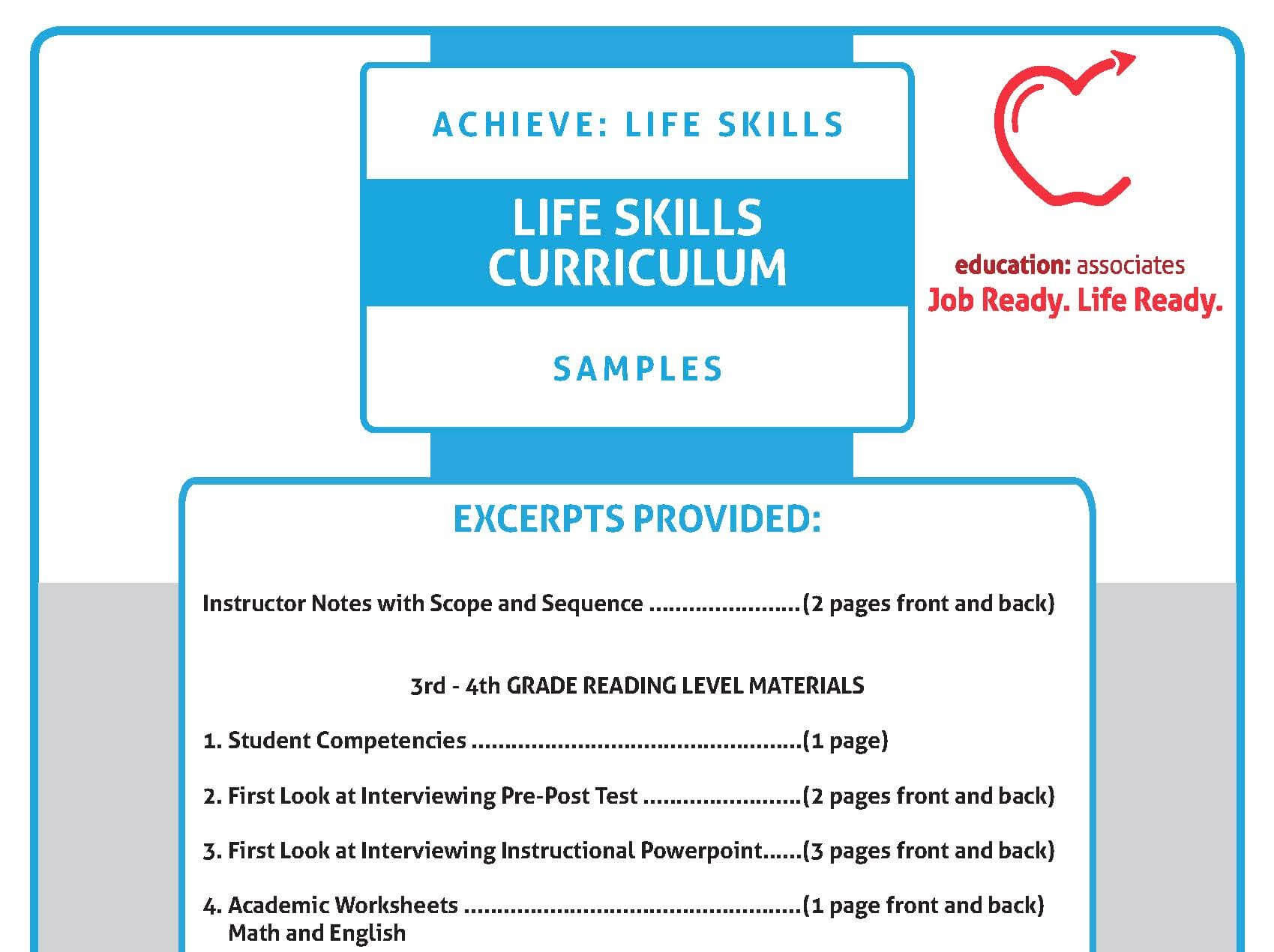 Curriculum Samples – Education Associates