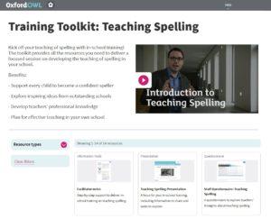 training toolkit teaching spelling