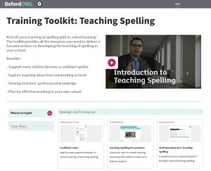 training toolkit teaching spelling