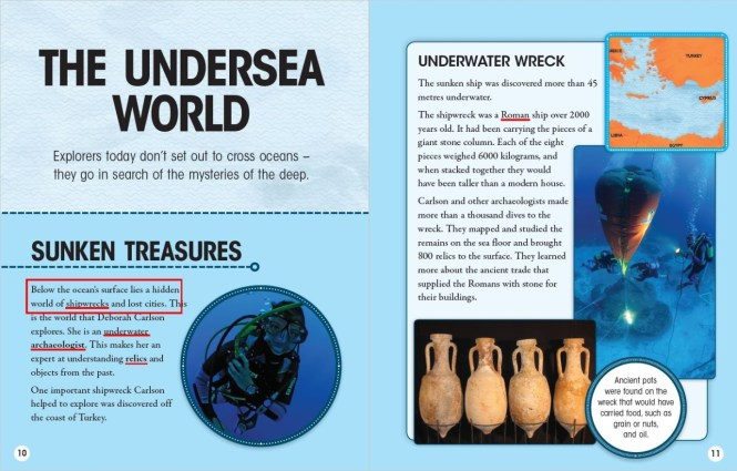close reading example the undersea world