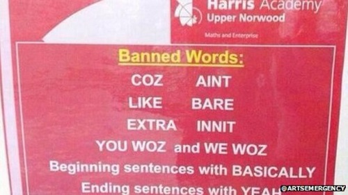 west midlands primary banned words