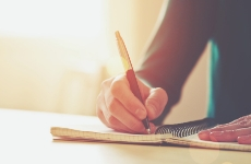 National Writing Day: writing in a notebook