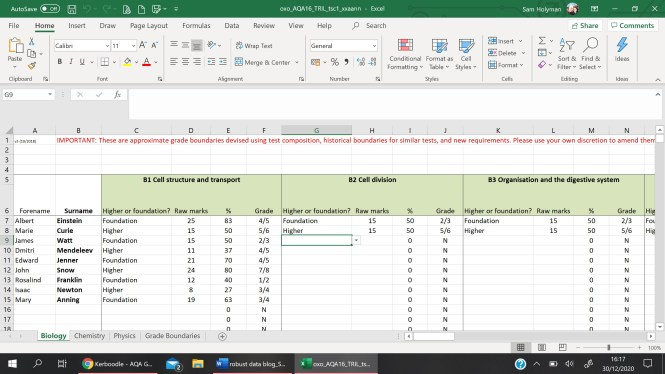 Kerboodle for Centre Assessed Grades blog