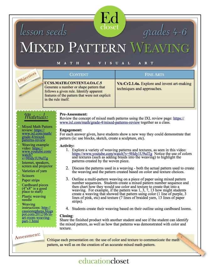Mixed Pattern Weaving