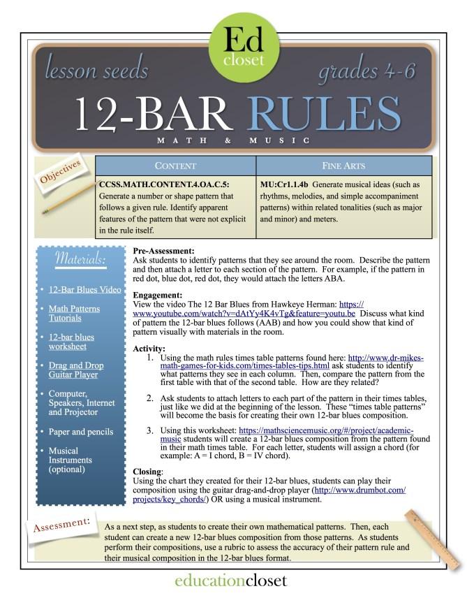 12 bar rules