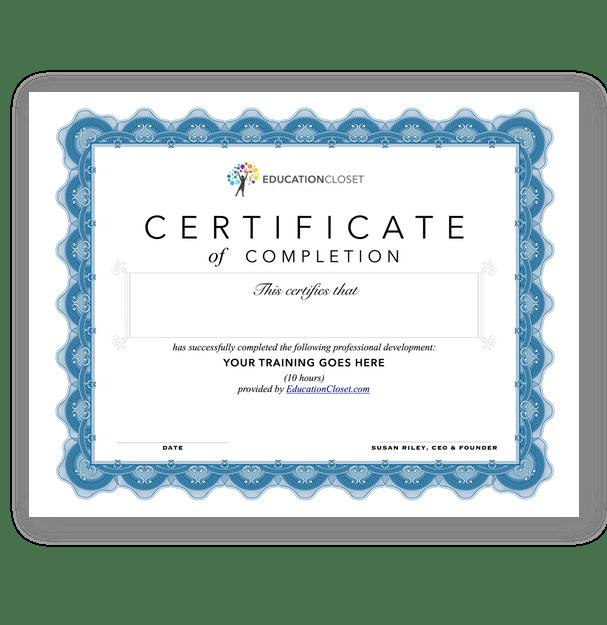 teacher professional development certificate