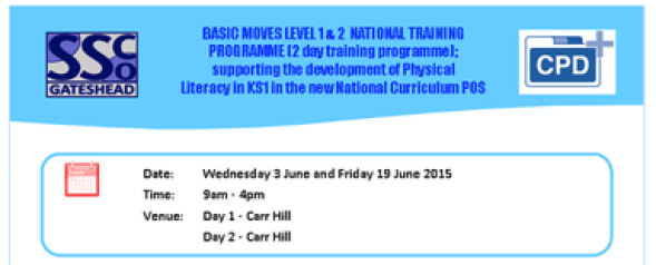 Basic Moves (Physical Literacy) Level 1 & 2  National Training Programme (2 day training programme)