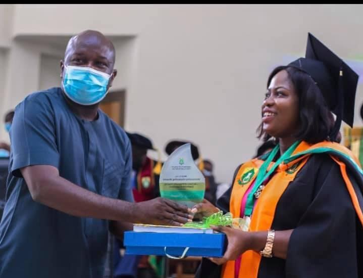 UHAS: Sally Banyih wins 1st John Evans Atta Mills Over All Best Student Award