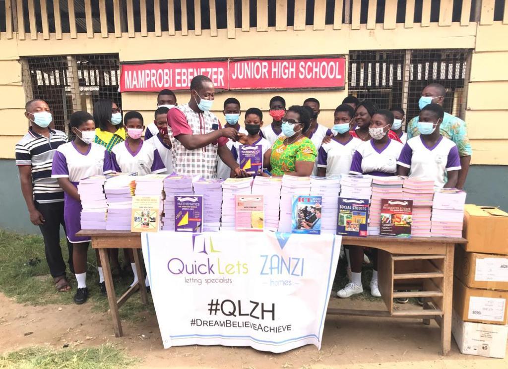 Mamprobi Ebenezer 4 JHS, Sempe receives stationery worth GH¢13,000 from QLZH Foundation 3