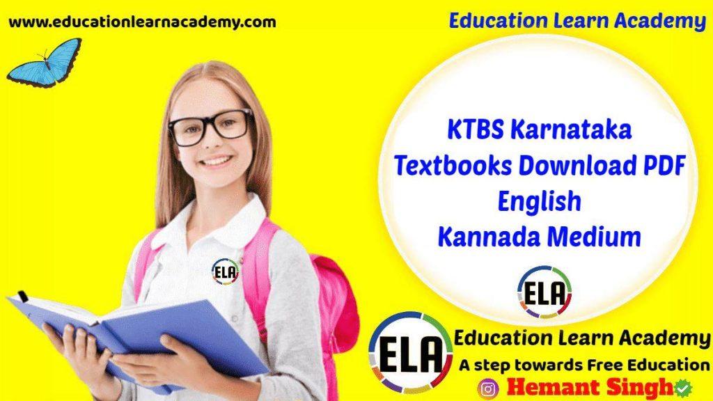 KTBS Karnataka Textbooks Download PDF English Kannada Medium