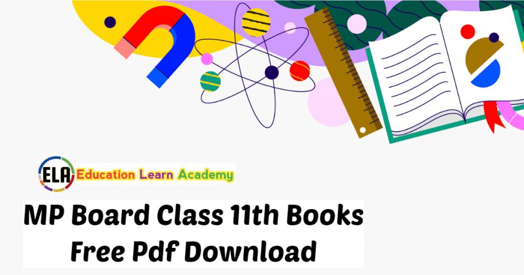 MP Board Class 11th Books Free Pdf Download