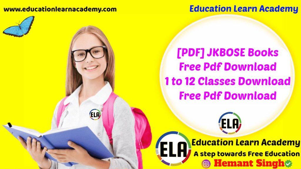 [PDF] JKBOSE Books Free Pdf Download by SCERT 1 to 12 Classes Download