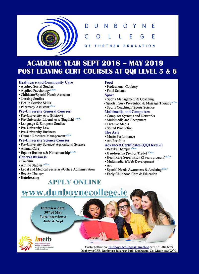 Dunboyne College RG18 ad zx