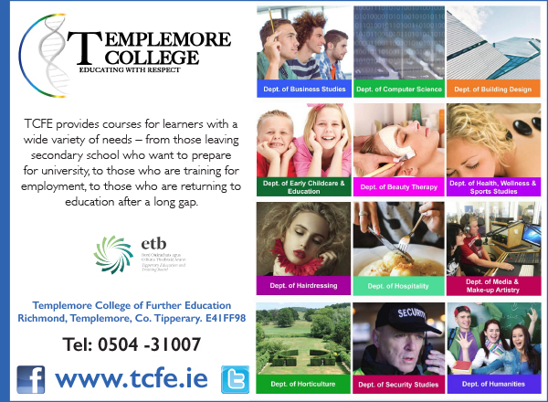 Templemore College RG18 ad.indd