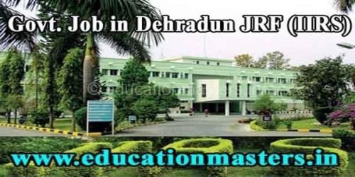 IIRS-jrf-dehraduneducationmaster.in
