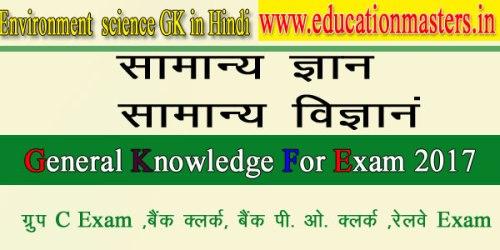 Environment gk notes in hindi