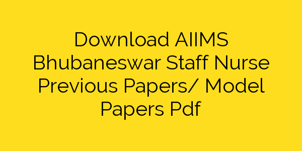 Aiims Previous Year Papers Pdf