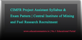 CIMFR Project Assistant syllabus