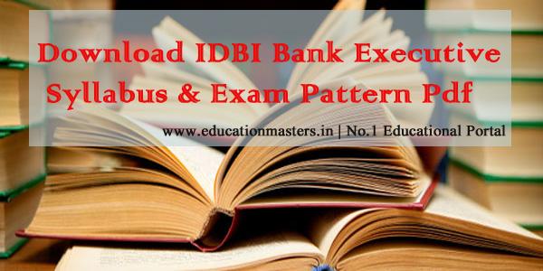 IDBI-executive-syllabus-201