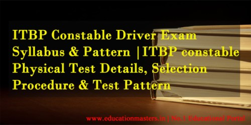 ITBP-Constable-Syllabus